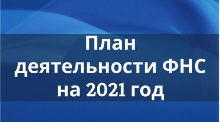 План Федеральной налоговой службы на 2021 год